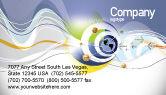 Telecommunication: Communicatie Netwerk Visitekaartje Template #04058