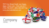 Flags/International: Union of Countries Business Card Template #04081