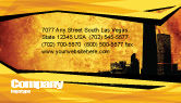 Construction: Skyline Of A City Business Card Template #04096