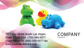 Education & Training: Stuffed Toys Business Card Template #04109