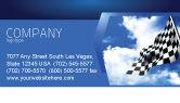 Flags/International: Modello Biglietto da Visita - Dirittura d'arrivo #04142