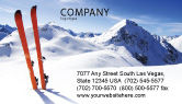 Sports: Skis Business Card Template #04169