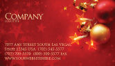 Holiday/Special Occasion: Red christmas thema Visitenkarte Vorlage #04186