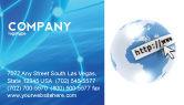 Telecommunication: Site Address Business Card Template #04201