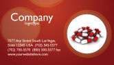 Medical: Red White Pills Business Card Template #04208