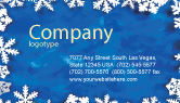 Holiday/Special Occasion: Winter Theme Business Card Template #04220