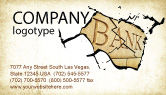 Financial/Accounting: Bank Bankruptcy Business Card Template #04221