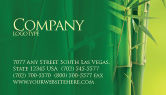 Nature & Environment: Bamboo Grove Business Card Template #04227