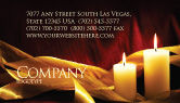 Religious/Spiritual: Candle Light Business Card Template #04239