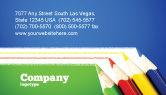 Education & Training: Color Pencils Lines Business Card Template #04251