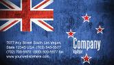 Flags/International: New Zealand Business Card Template #04258
