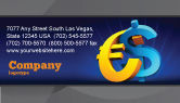 Financial/Accounting: Euro vs. Dollar Business Card Template #04268