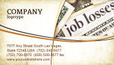 Careers/Industry: World Crisis Business Card Template #04282
