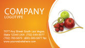 Medical: Balanced Nutrition Business Card Template #04289