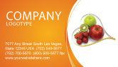 Medical: Modello Biglietto da Visita - Alimentazione bilanciata #04289