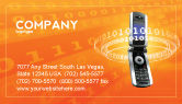 Telecommunication: Mobile Service Provider Business Card Template #04320