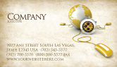 Telecommunication: World Connection Business Card Template #04340