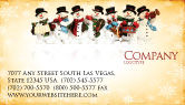 Holiday/Special Occasion: Snowmen Orchestra Business Card Template #04354