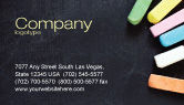 Education & Training: Chalk Business Card Template #04365