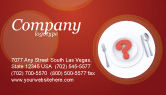 Food & Beverage: Hunger Business Card Template #04387