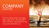 Consulting: Drowning Business Card Template #04407