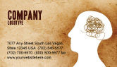 Business Concepts: Verdrehter verstand Visitenkarte Vorlage #04412