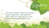 Nature & Environment: Grape Leaves Ornament Business Card Template #04421