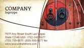 Flags/International: Zen Door Business Card Template #04426