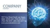 Medical: Gehirnwellen Visitenkarte Vorlage #04437