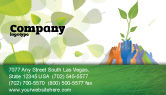 Nature & Environment: Ecology Building Business Card Template #04438