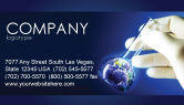 Technology, Science & Computers: Volumetric Flask Business Card Template #04443