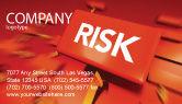 Business: Risk Block Business Card Template #04516