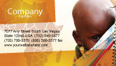 People: African Baby Business Card Template #04531