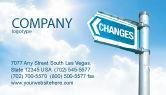 Financial/Accounting: Templat Kartu Bisnis Perubahan #04582