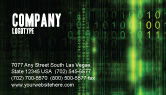 Technology, Science & Computers: Matrix Code Business Card Template #04604