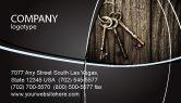 Education & Training: Keys Business Card Template #04609