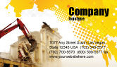 Construction: Demolition Business Card Template #04661