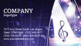 Art & Entertainment: Music Tune Business Card Template #04663