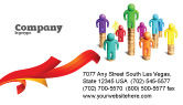 Financial/Accounting: 명함 템플릿 - 개인 소득 #04694