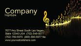 Art & Entertainment: Modern Music Business Card Template #04739