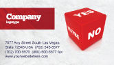 Consulting: Decision Cube Business Card Template #04774