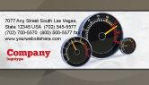 Cars/Transportation: Speedo Business Card Template #04804