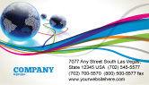 Telecommunication: Wereld Web Visitekaartje Template #04819