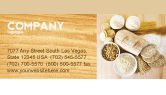 Food & Beverage: Staple Food Business Card Template #04956