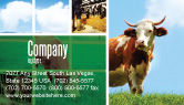 Agriculture and Animals: Cow Business Card Template #04991