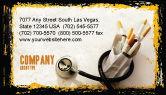 Medical: Smoking Kills Business Card Template #05004