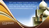 Religious/Spiritual: Islamic Architecture Business Card Template #05013