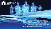 Technology, Science & Computers: Virtual Avatars In The Internet Business Card Template #05069