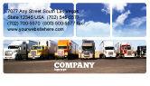 Cars/Transportation: Trucks Business Card Template #05080