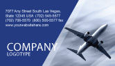 Cars/Transportation: Air Vessel Business Card Template #05115
